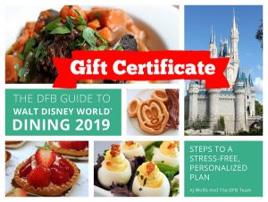 Gift Certificate: DFB Guide to Walt Disney World Dining
